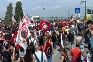 Kehrseite der Lagune - Demo in Venedig am 9.6.2013