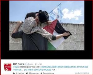 Antikriegs-Szene auf Twitter