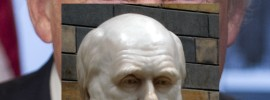 Perspektiven auf den Wandel: Darwin und Trump (Fotos: Wikimedia)